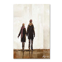 The Macneil Studio Walking 12-Inch x 19-Inch Canvas Wall Art