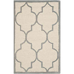 Safavieh Cambridge 2-Foot x 3-Foot Tara Wool Rug in Ivory/Silver