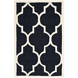 Safavieh Cambridge 2-Foot x 3-Foot Tara Wool Rug in Black/Ivory