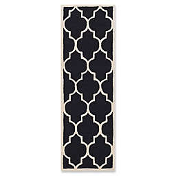 Safavieh Cambridge 2-Foot 6-Inch x 6-Foot Tara Wool Rug in Black/Ivory