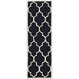 Safavieh Cambridge 2-Foot 6-Inch x 10-Foot Tara Wool Rug in Black/Ivory