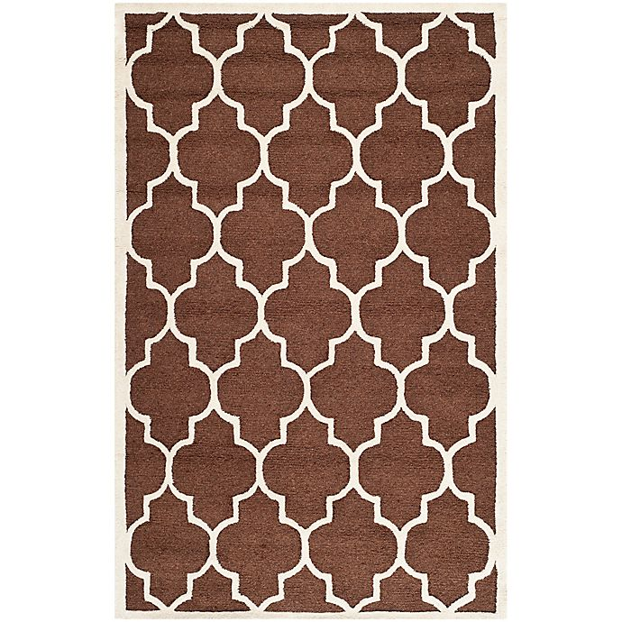Alternate image 1 for Safavieh Cambridge 6-Foot x 9-Foot Tara Wool Rug in Dark Brown/Ivory