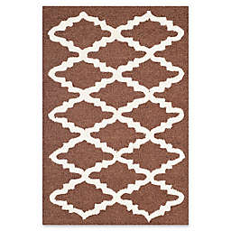 Safavieh Cambridge 2-Foot x 3-Foot Jada Wool Rug in Dark Brown/Ivory