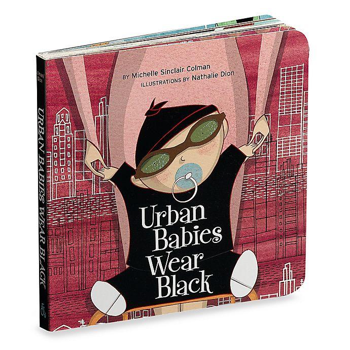 Alternate image 1 for Urban Babies Wear Black Board Book