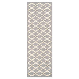 Safavieh Cambridge 2-Foot 6-Inch x 10-Foot Jada Wool Rug in Silver/Ivory
