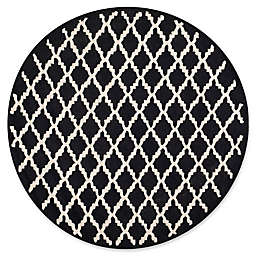 Safavieh Cambridge 6-Foot x 6-Foot Jada Wool Rug in Black/Ivory