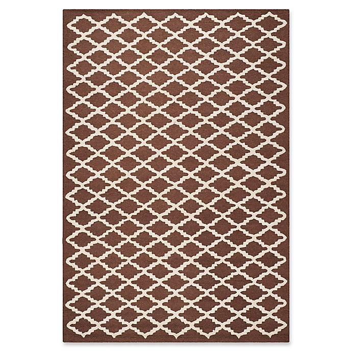 Alternate image 1 for Safavieh Cambridge 6-Foot x 9-Foot Jada Wool Rug in Dark Brown/Ivory