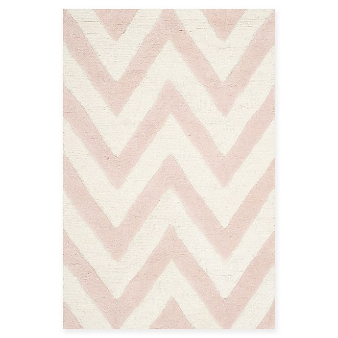 Alternate image 1 for Safavieh Cambridge 2-Foot 6-Inch x 4-Foot Abby Wool Rug in Light Pink/Ivory