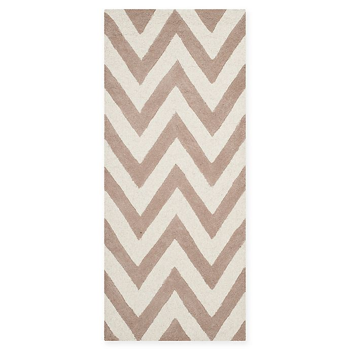 Alternate image 1 for Safavieh Cambridge 2-Foot 6-Inch x 6-Foot Abby Wool Rug in Beige/Ivory