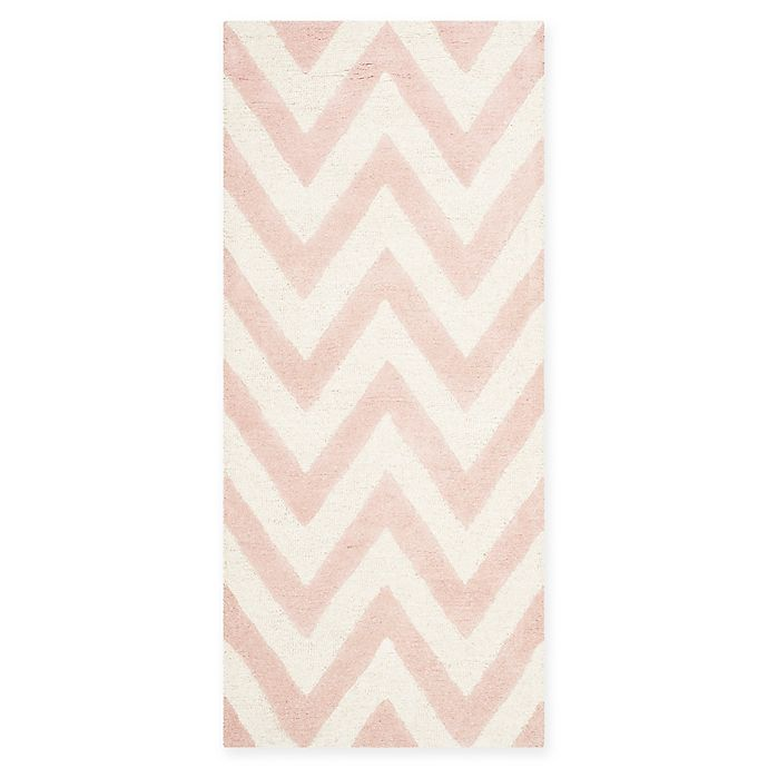Alternate image 1 for Safavieh Cambridge 2-Foot 6-Inch x 8-Foot Abby Wool Rug in Light Pink/Ivory
