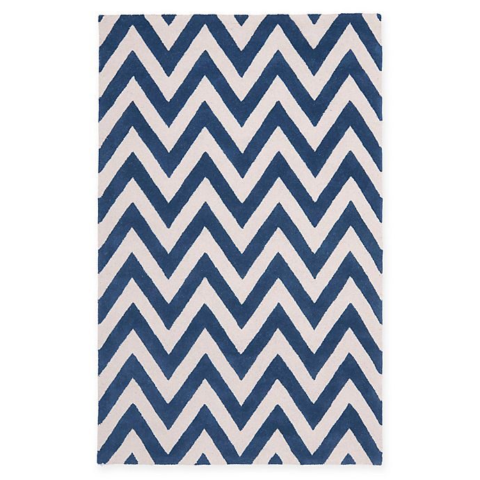 Alternate image 1 for Safavieh Cambridge 3-Foot x 5-Foot Abby Wool Rug in Navy /Ivory