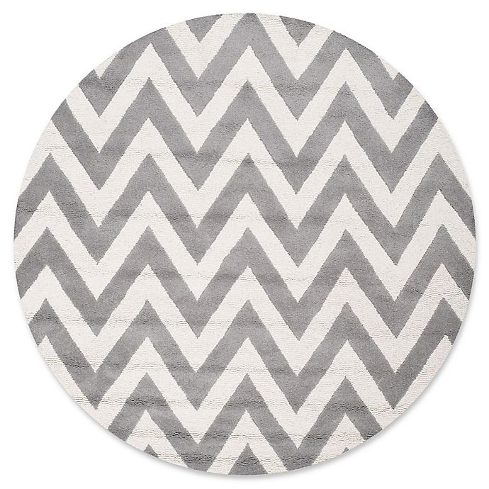 Alternate image 1 for Safavieh Cambridge 4-Foot x 4-Foot Abby Wool Rug in Silver/Ivory