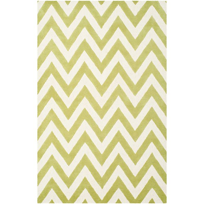 Alternate image 1 for Safavieh Cambridge 5-Foot x 8-Foot Abby Wool Rug in Green/Ivory