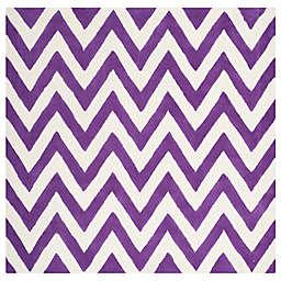 Safavieh Cambridge 6-Foot x 6-Foot Abby Wool Rug in Purple/Ivory
