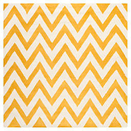 Safavieh Cambridge 8-Foot x 8-Foot Abby Wool Rug in Gold/Ivory