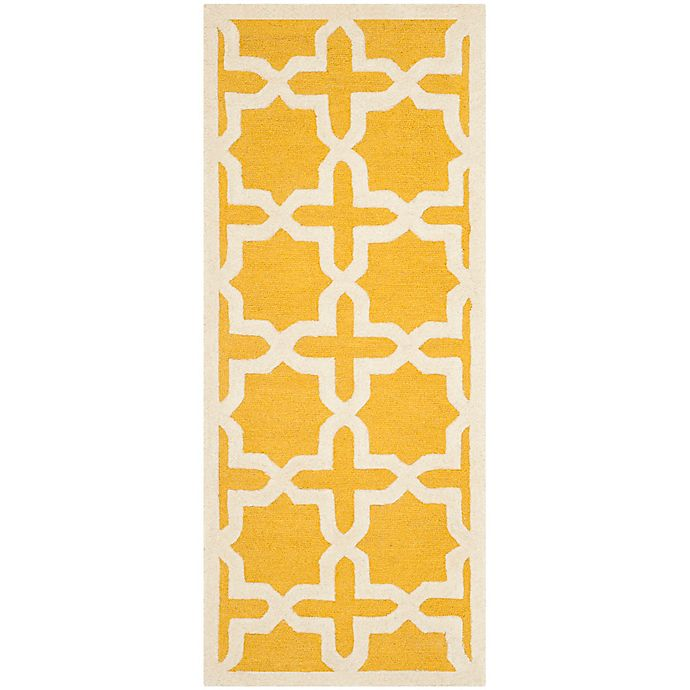 Alternate image 1 for Safavieh Cambridge 2-Foot 6-Inch x 6-Foot Ana Wool Rug in Gold/Ivory