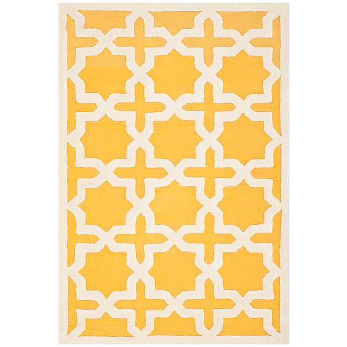 Alternate image 1 for Safavieh Cambridge 3-Foot x 5-Foot Ana Wool Rug in Gold/Ivory