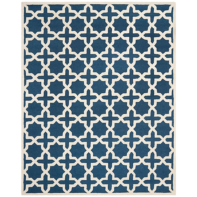 Alternate image 1 for Safavieh Cambridge 9-Foot x 12-Foot Ana Wool Rug in Navy Blue/Ivory