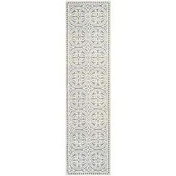 Safavieh Cambridge 2-Foot 6-Inch x 16-Foot Gena Wool Rug in Silver/Ivory