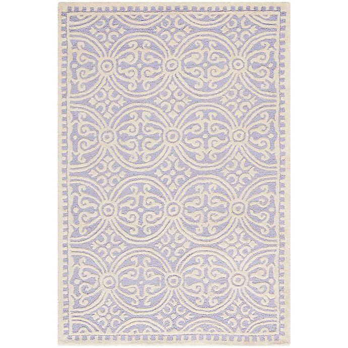Alternate image 1 for Safavieh Cambridge 4-Foot x 6-Foot Gena Wool Rug in Lavander/Ivory