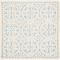 Safavieh Cambridge 6-Foot x 6-Foot Gena Wool Rug in Light Blue/Ivory