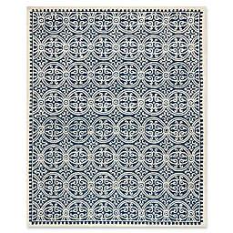 Safavieh Cambridge 7-Foot 6-Inch x 9-Foot 6-Inch Gena Wool Rug in Navy Blue/Ivory