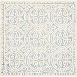 Safavieh Cambridge 8-Foot x 8-Foot Gena Wool Rug in Light Blue/Ivory
