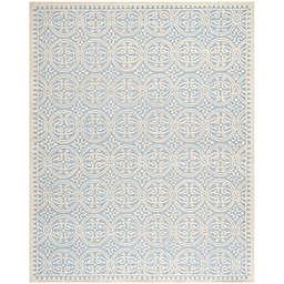 Safavieh Cambridge 8-Foot x 10-Foot Gena Wool Rug in Light Blue/Ivory
