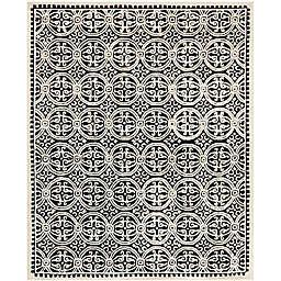 Safavieh Cambridge 8-Foot x 10-Foot Gena Wool Rug in Black/Ivory