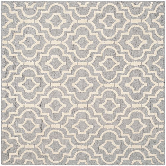 Alternate image 1 for Safavieh Cambridge 8-Foot x 8-Foot Taylor Wool Rug in Silver/Ivory