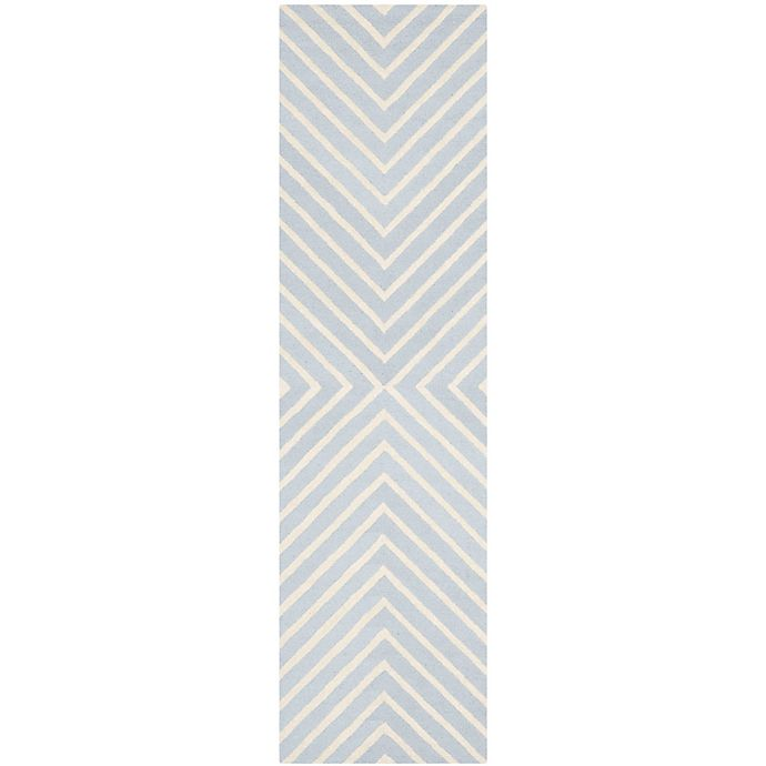 Alternate image 1 for Safavieh Cambridge 2-Foot 6-Inch x 6-Foot Jenn Wool Rug in Light Blue/Ivory