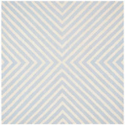 Safavieh Cambridge 6-Foot x 6-Foot Jenn Wool Rug in Light Blue/Ivory