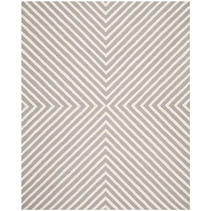 Alternate image 1 for Safavieh Cambridge 8-Foot x 10-Foot Jenn Wool Rug in Silver/Ivory