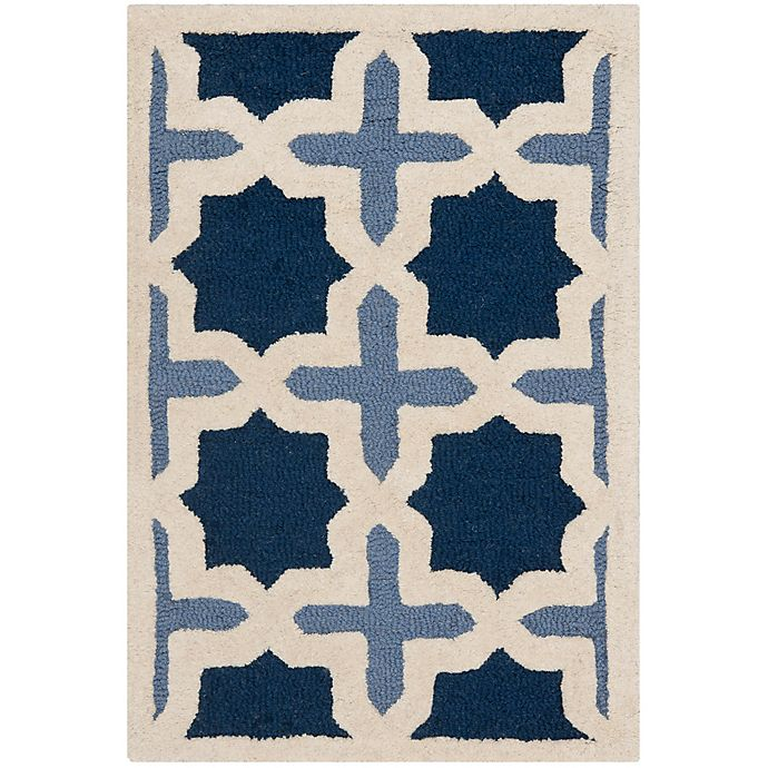Alternate image 1 for Safavieh Cambridge 2-Foot 6-Inch x 4-Foot Dana Wool Rug in Blue/Ivory