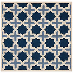 Safavieh Cambridge 6-Foot x 6-Foot Dana Wool Rug in Blue/Ivory