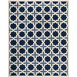 Safavieh Cambridge 8-Foot x 10-Foot Dana Wool Rug in Blue/Ivory