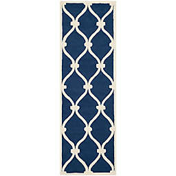 Safavieh Cambridge 2-Foot 6-Inch x 6-Foot Emma Wool Rug in Navy /Ivory