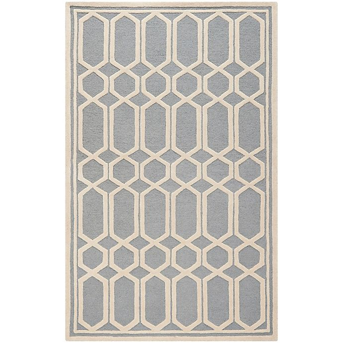 Alternate image 1 for Safavieh Cambridge 8-Foot x 10-Foot Rae Wool Rug in Silver/Ivory