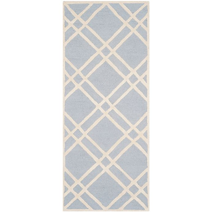 Alternate image 1 for Safavieh Cambridge 2-Foot 6-Inch x 6-Foot Trina Wool Rug in Light Blue/Ivory
