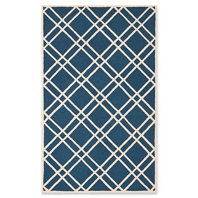 Alternate image 1 for Safavieh Cambridge 6-Foot x 9-Foot Trina Wool Rug in Navy Blue/Ivory
