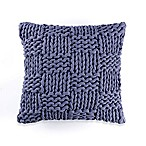 Kenneth Cole Mineral Yarn-Dyed Cozy Knit Square Throw Pillow in Denim