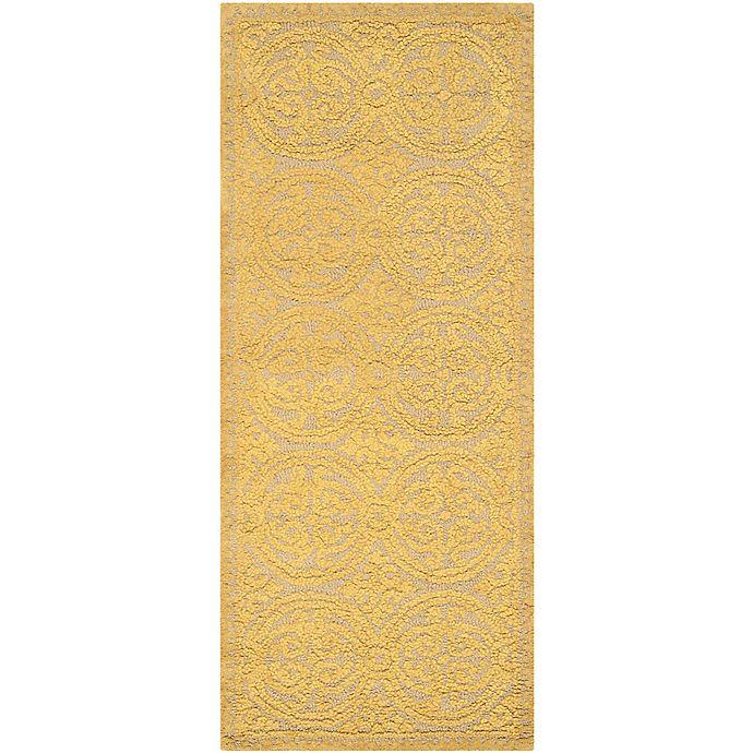Alternate image 1 for Safavieh Cambridge 2-Foot 6-Inch x 6-Foot Lindsey Wool Rug in Light Gold/Dark Gold