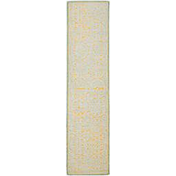 Safavieh Cambridge 2-Foot 6-Inch x 12-Foot Lindsey Wool Rug in Blue/Gold