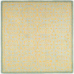 Safavieh Cambridge 4-Foot x 4-Foot Lindsey Wool Rug in Blue/Gold