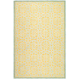 Safavieh Cambridge 8-Foot x 10-Foot Lindsey Wool Rug in Blue/Gold
