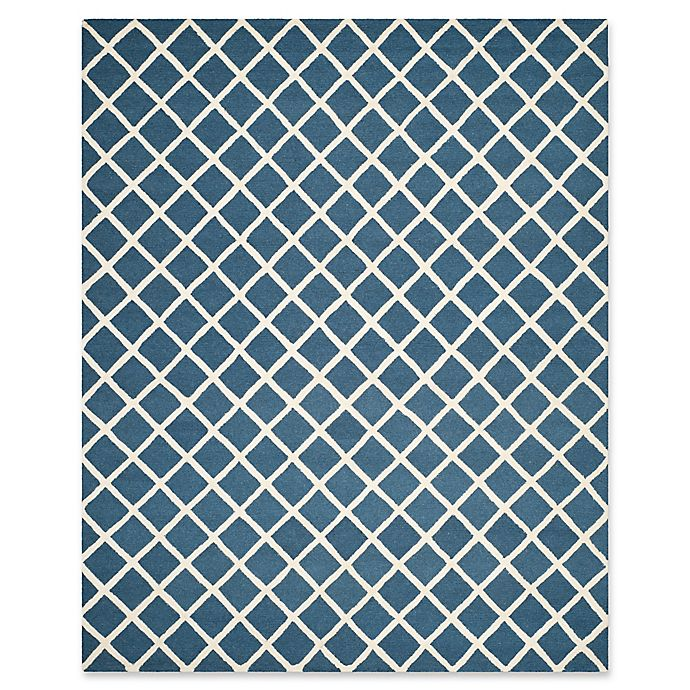 Alternate image 1 for Safavieh Cambridge 8-Foot x 10-Foot Eva Wool Rug in Navy /Ivory