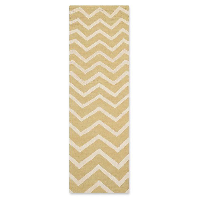 Alternate image 1 for Safavieh Cambridge 2-Foot 6-Inch x 8-Foot Zoe Wool Rug in Light Gold/Ivory