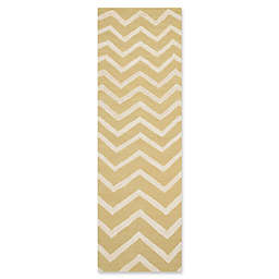 Safavieh Cambridge 2-Foot 6-Inch x 8-Foot Zoe Wool Rug in Light Gold/Ivory