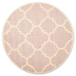 Safavieh Cambridge 6-Foot x 6-Foot Lynn Wool Rug in Light Pink/Ivory