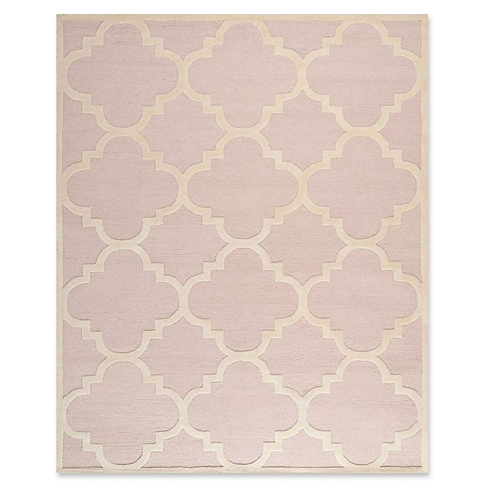 Alternate image 1 for Safavieh Cambridge 8-Foot x 10-Foot Lynn Wool Rug in Light Pink/Ivory